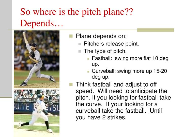 So where is the pitch plane?? Depends…