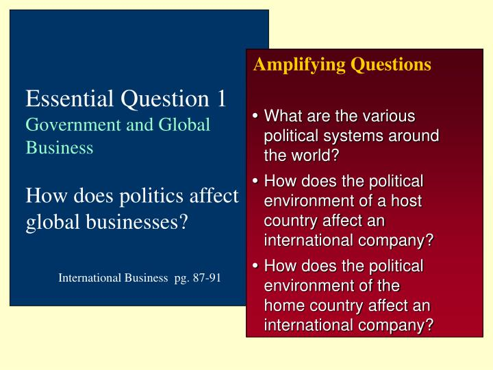how globalization can affect international business essay Essay international business international business ( semester 2, 2014)  topic 1: context  globalization: there is no agreed or consistent definition for globalization but the key features including:  everything and everyone equal  intensive and rapid flows cross border flows (eg product, finance)  not just economic but social, culture also.