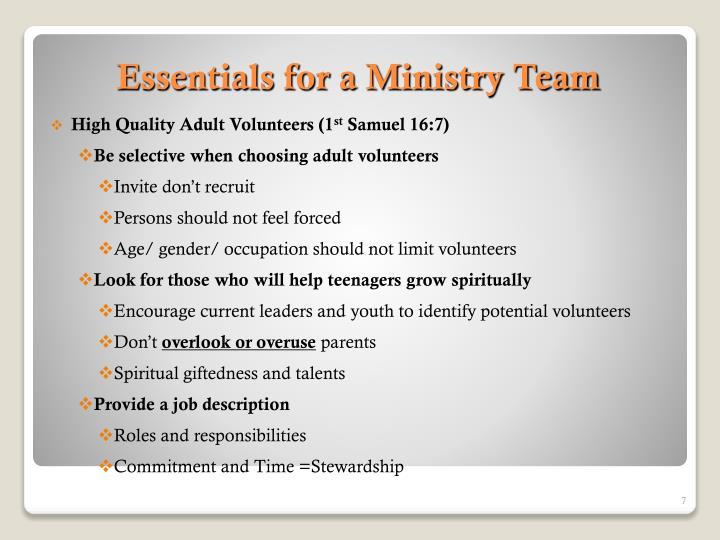 High Quality Adult Volunteers (1