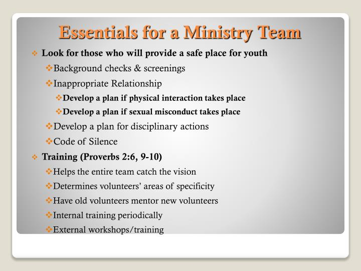 Look for those who will provide a safe place for youth