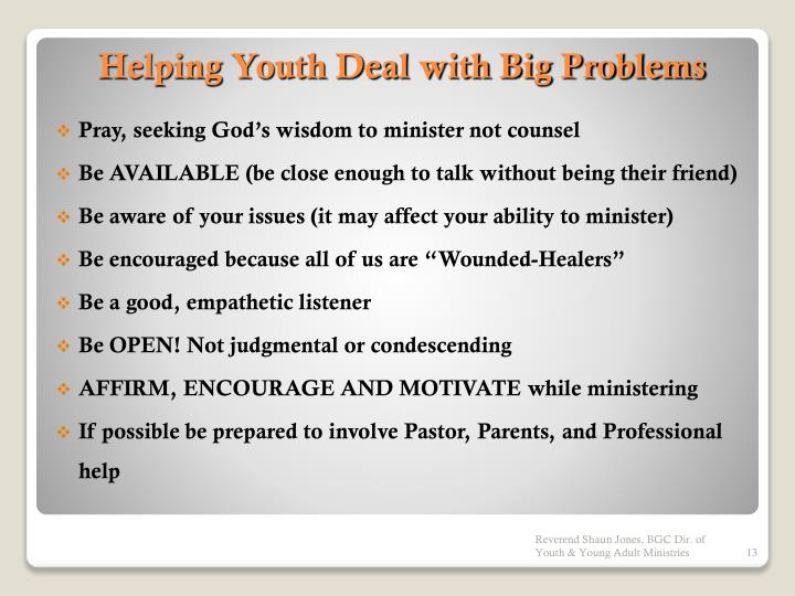 Pray, seeking God's wisdom to minister not counsel