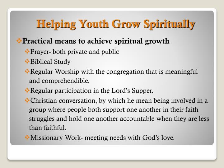 Helping Youth Grow Spiritually