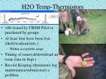 h2o temp thermistors