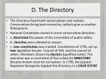 d the directory
