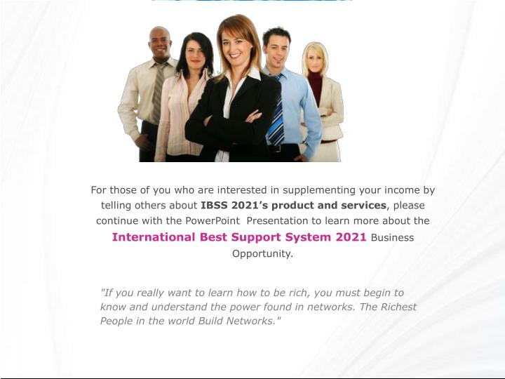 For those of you who are interested in supplementing your income by telling others about