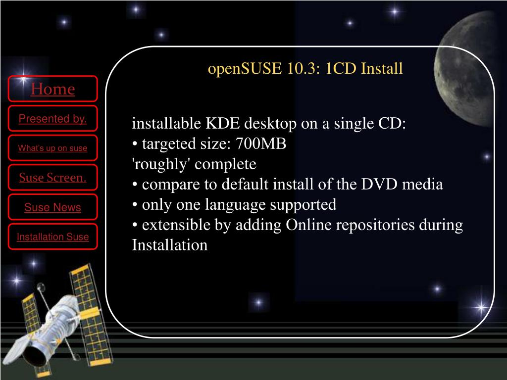 PPT - KDE 4 on open SUSE 11 PowerPoint Presentation - ID:5046125