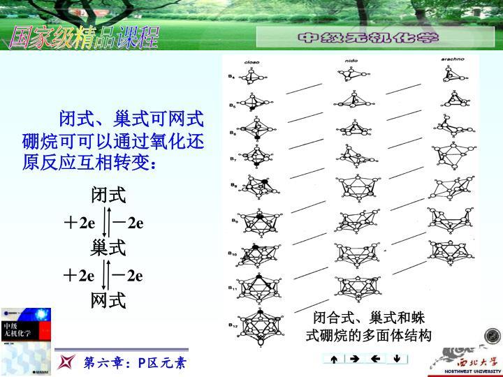 闭式、巢式可网式硼烷可可以通过氧化还原反应互相转变: