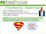 crisis planning single person
