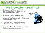 the irrevocable funeral trust