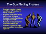the goal setting process