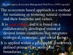 the interagency ecosystem management task force 1995 reported