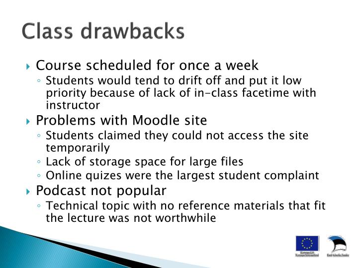 Class drawbacks