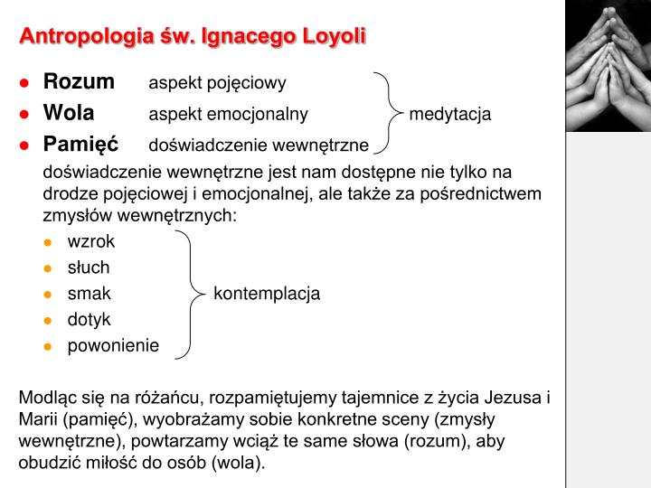 Antropologia św. Ignacego Loyoli