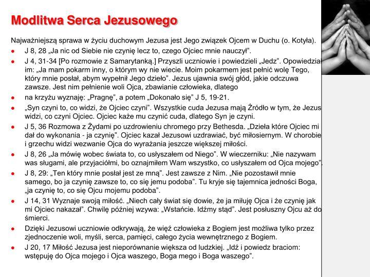 Modlitwa Serca Jezusowego