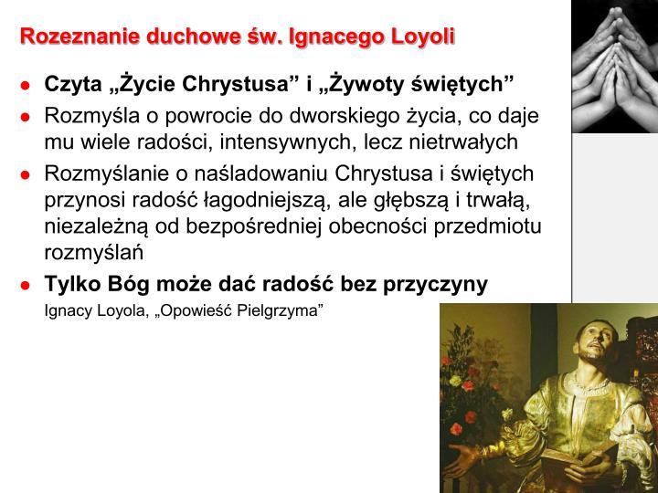 Rozeznanie duchowe św. Ignacego Loyoli
