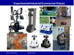 experimental industrial commercial robots