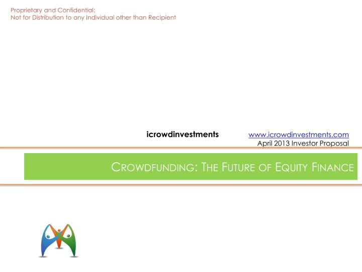 crowdfunding the future of equity finance n.