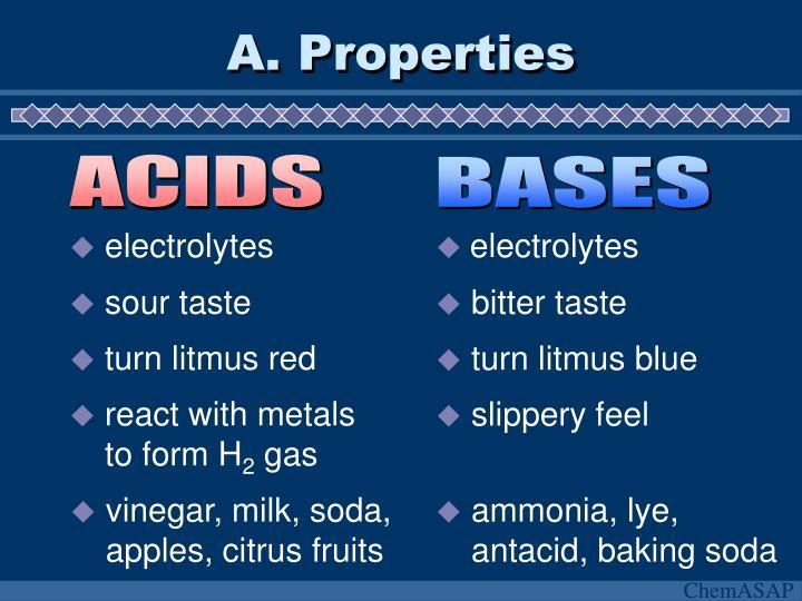 A properties