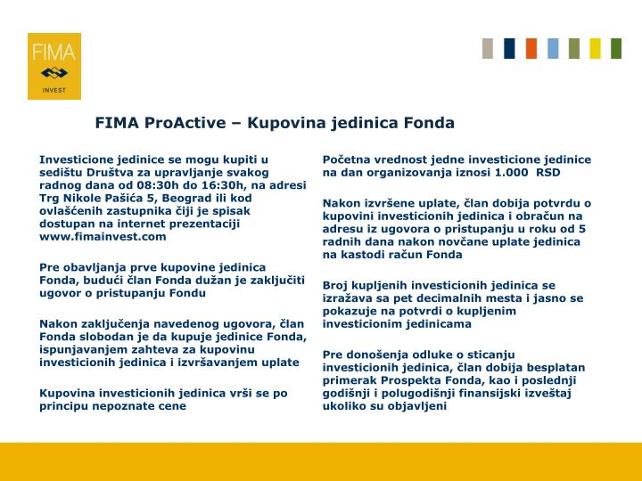 FIMA ProActive –