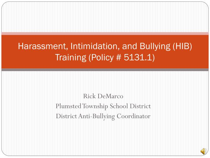harassment intimidation and bullying hib training policy 5131 1 n.