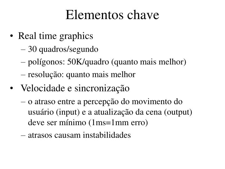 Elementos chave