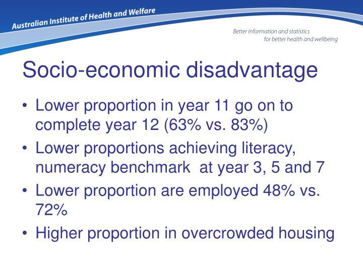 Socio-economic disadvantage