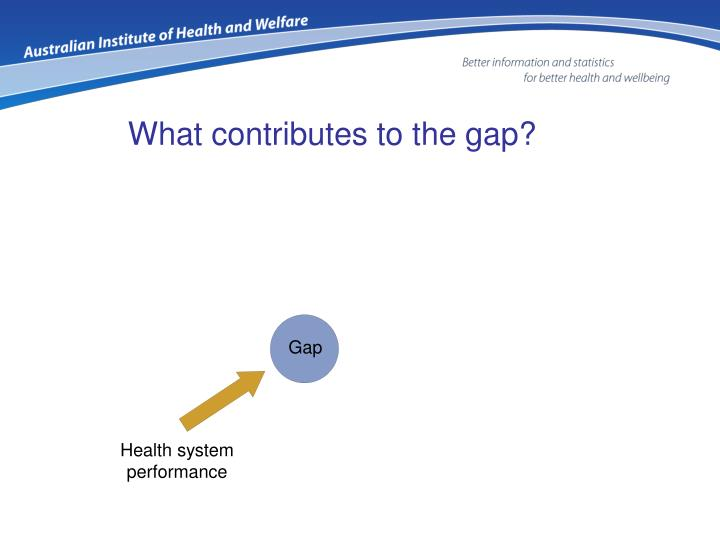 What contributes to the gap?