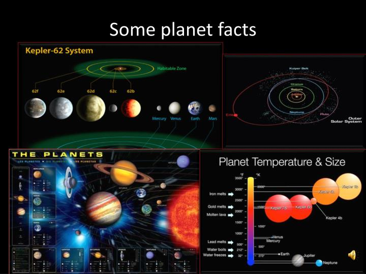 Some planet facts