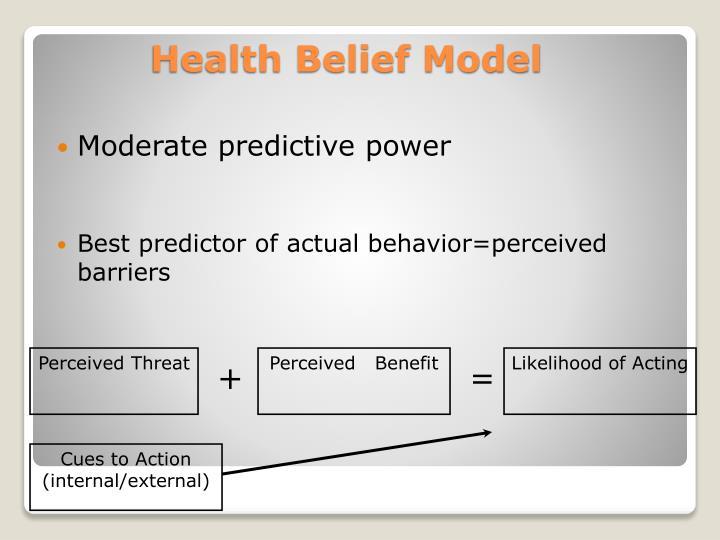 Ppt Health Belief Model Hbm Powerpoint Presentation Id5047798