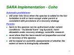 sara implementation coho1