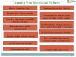 learning from success and failures
