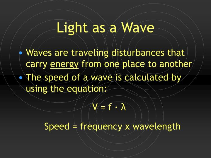 light as a wave n.