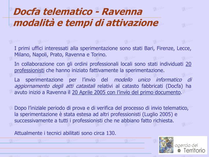 Docfa telematico - Ravenna