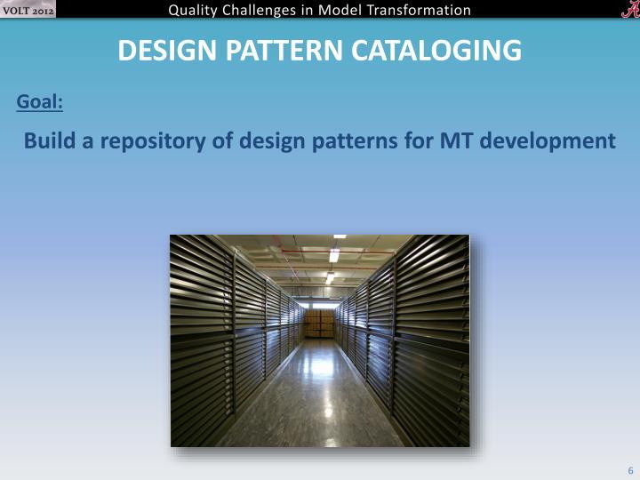 Design pattern cataloging