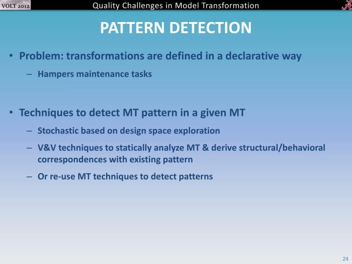 Pattern Detection