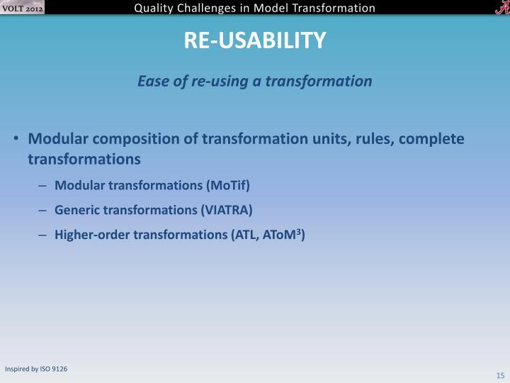 Re-usability