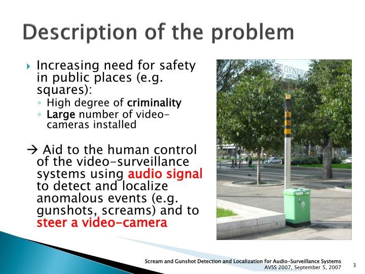 Description of the problem