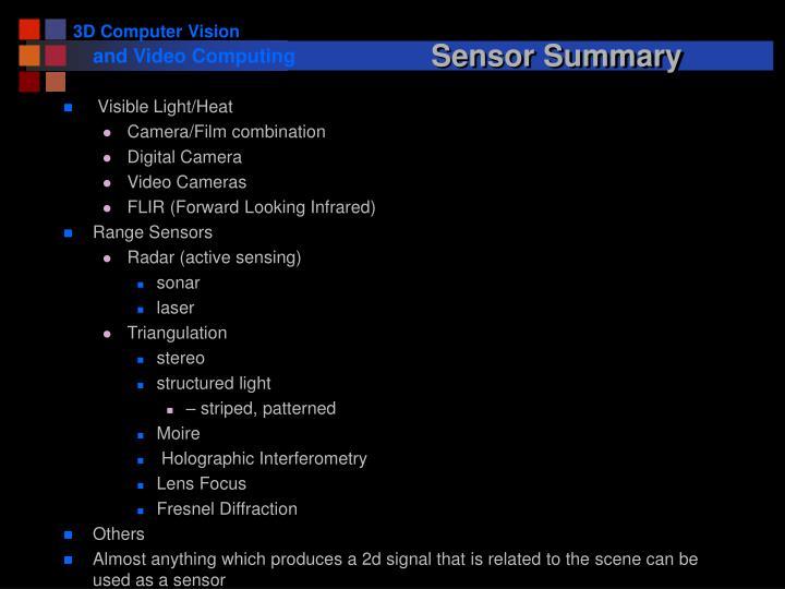 Sensor Summary