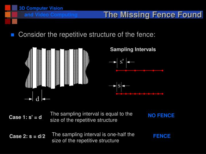 The Missing Fence Found