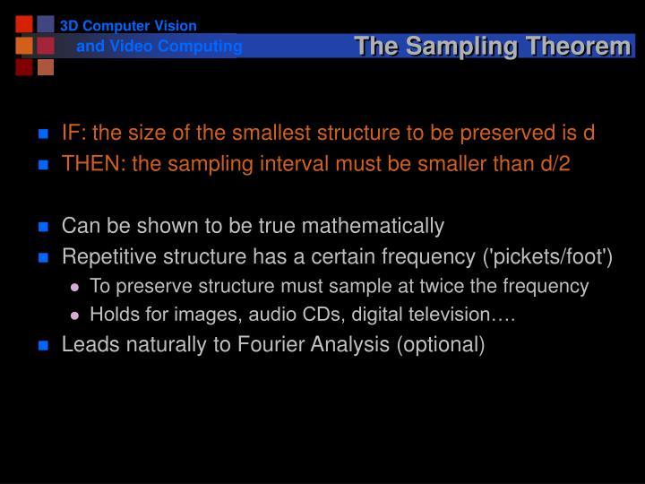 The Sampling Theorem