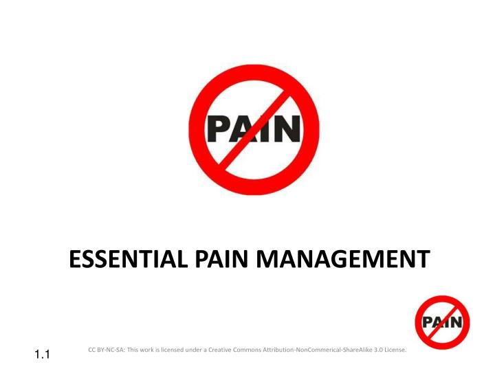 essential pain management n.