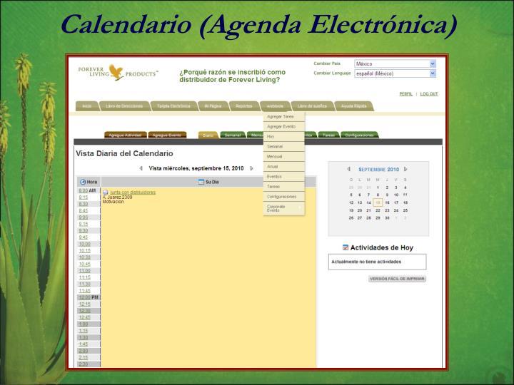 Calendario (Agenda Electrónica)