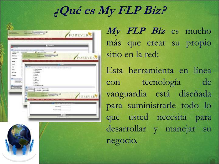 ¿Qué es My FLP Biz?