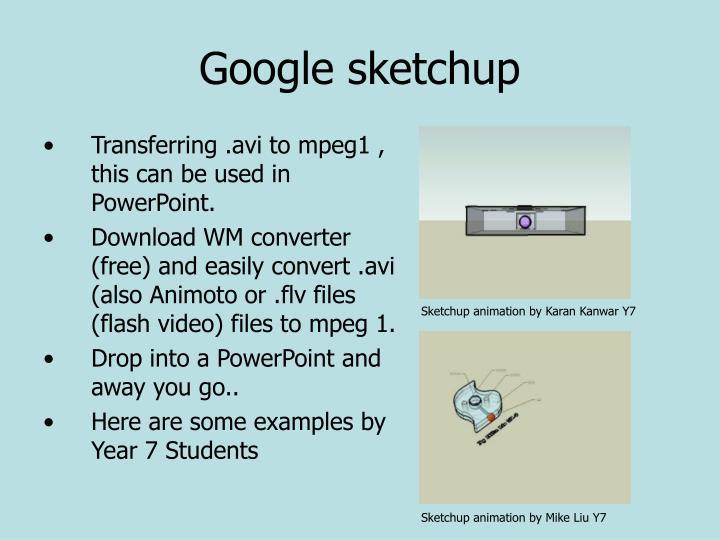 Ppt year 7 homework task powerpoint presentation id for Google sketchup converter