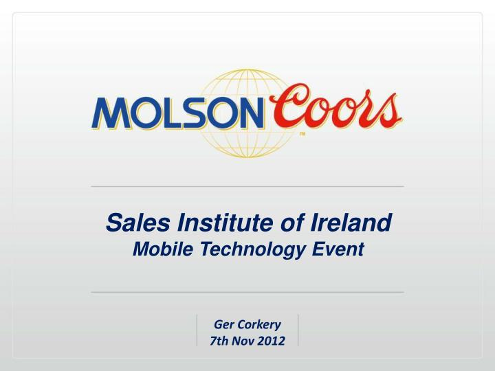 Sales institute of ireland mobile technology event