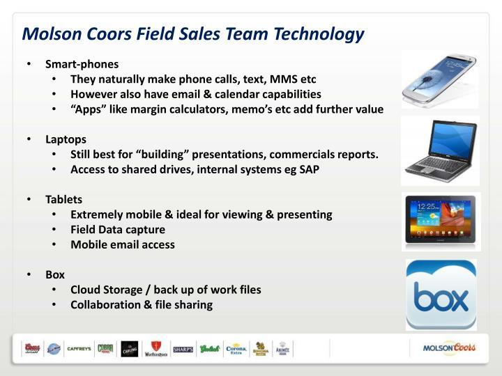 Molson Coors Field Sales Team Technology