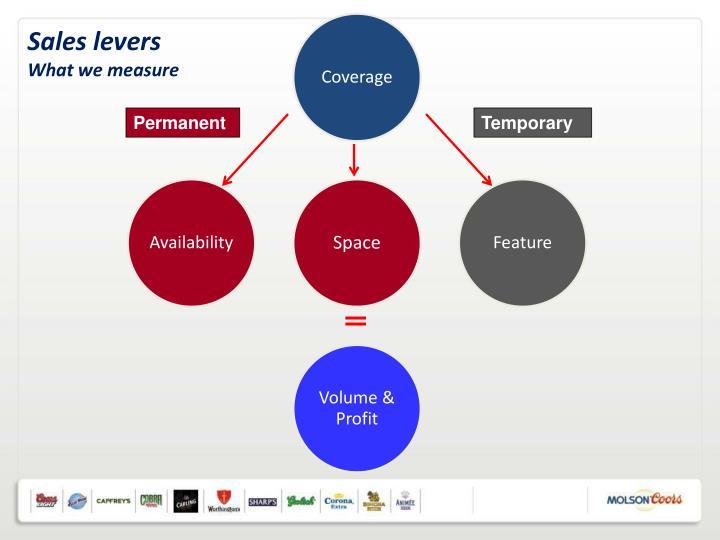 Sales levers