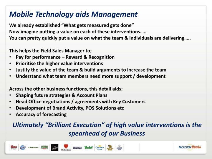 Mobile Technology aids Management