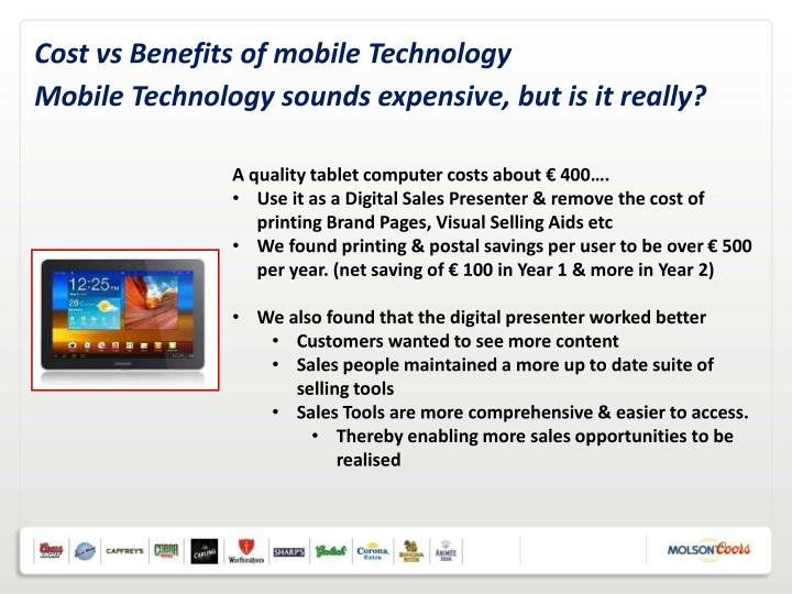 Cost vs Benefits of mobile Technology