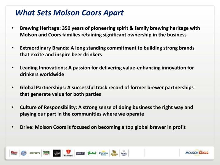 What Sets Molson Coors Apart